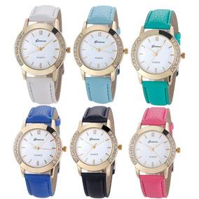 Relógio De Pulso Geneva Feminino - Frete Grátis