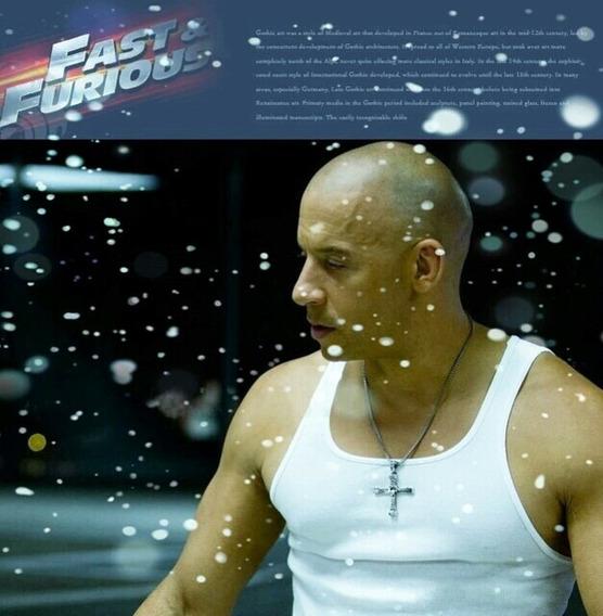 Clássico Colar De Velozes E Furiosos 7 Moive Dominic Toretto