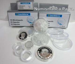 Capsulas Para Monedas. Marca Lighthouse. Caja Con 10