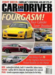 Car And Driver Set/2003 Chevrolet Ssr Cadillac Srx V8 Nissan