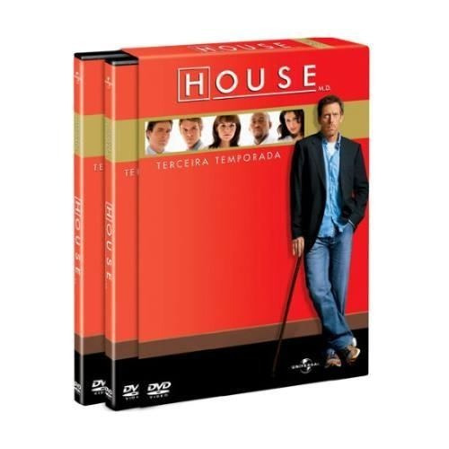 Dvd  House  - 3ª Temporada - 6 Dvds
