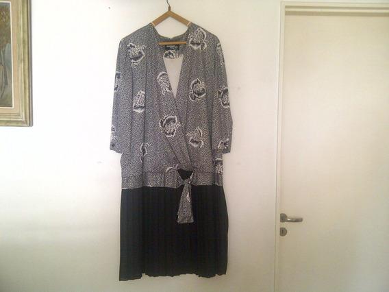 Vestido De Georgé Talle Especial