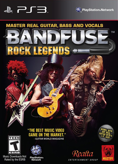 Jogo Musica Bandfuse Rock Legends Ps3 Playstation Sem O Cabo