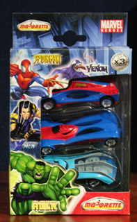 X Men - Spiderman Tripack Vehiculos Majorette