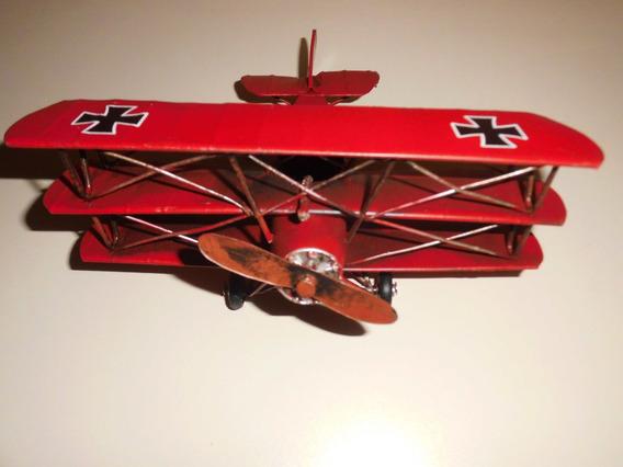 Barao Vermelho Aviao Miniatura Foker Vem C/metralhadora