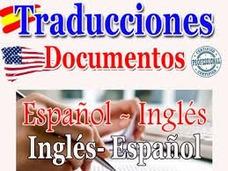 Traducción De Documentos, Ingles-español Español-ingles.