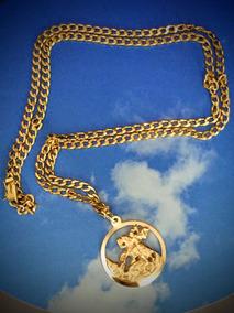 Colar Ouro 18k-13.3 Gr. 56cm. Com Pingente