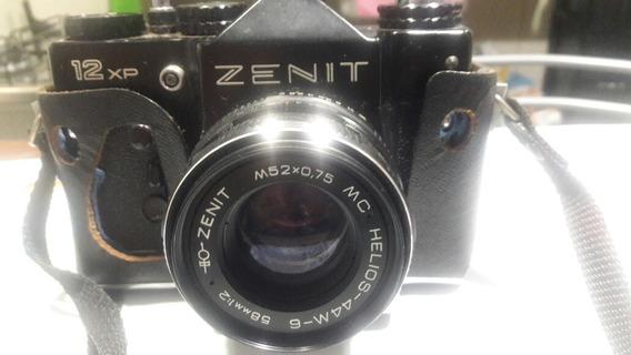 Câmera Fotográfica Zenit 12xp Com A Capa De Couro