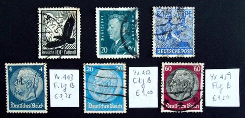 Alemania - Lote 6 Buenos Sellos Usados Ver Explicación L2455