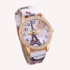 Relógio De Couro Vintage Quartz