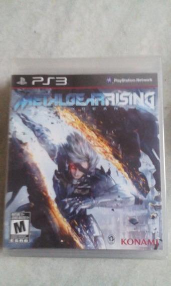 Jogo Sony Ps3 Metal Gear Rising Lacrado Original