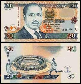 Quênia 20 Shillings 1995 P. 32 Fe Cédula - Tchequito