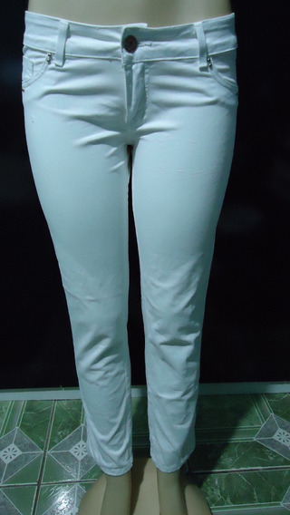 Calça Jeans Sawary - 44 - Lycra - Branca - Frete Grátis