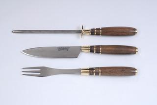Juego Cuchillo Tenedor Chaira Mission Comer Asado 0031