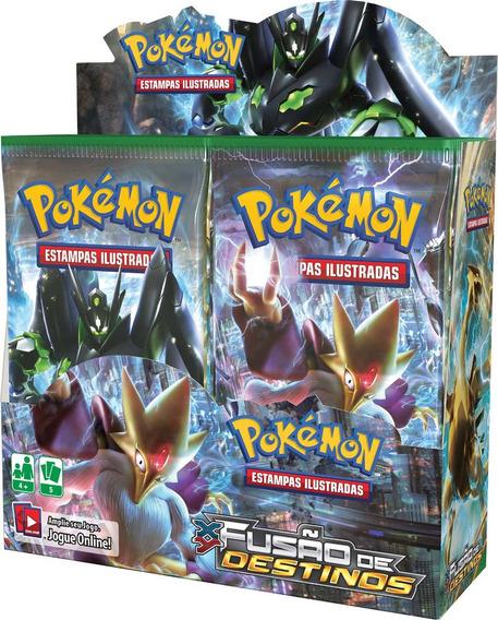 Box Card Game Pokémon Fusão De Destino Xy10 Com 36 Boosters