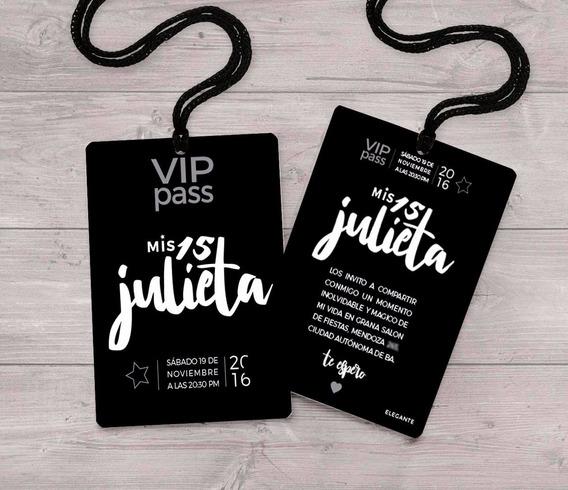 Promo 50 Invitaciones Estilo Vip De Quince
