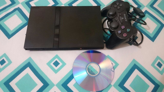 Playstation 2 Slim + 2 Controles + 10 Jogos + Memory Card