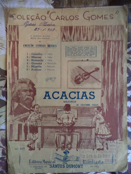 Partitura Para Violino Carlos Gomes Acácias Ano De 1958