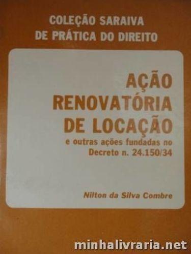 Livro Ação Renovatória De Locação Nilton Da Silva Combre