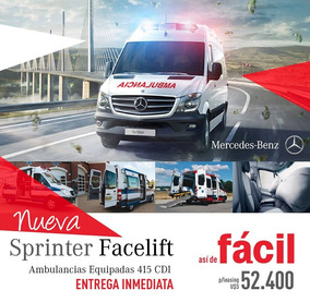 Mercedes Benz 415 Cdi Facelift Ambulancias Equipadas
