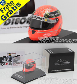 1/8 Capacete Michael Schumacher Mercedes F1 2012