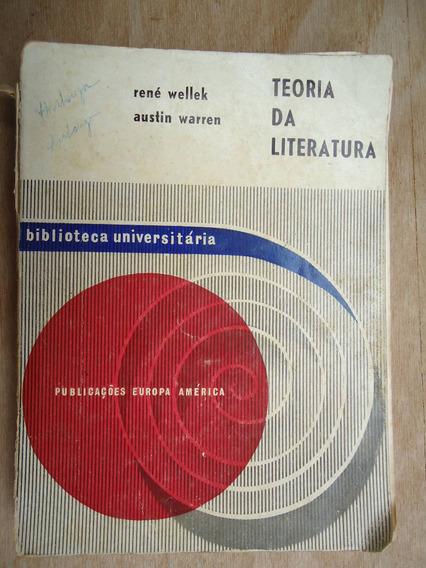 Livro - Teoria Da Literatura - René Wellek - Austin Warren E