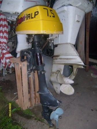 Motor De Popa Haupt 7.5 Hp E Peças A Venda Revisado,,,