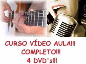 Curso De Guitarra E Canto! Aulas Em 4 Dvds Zxc