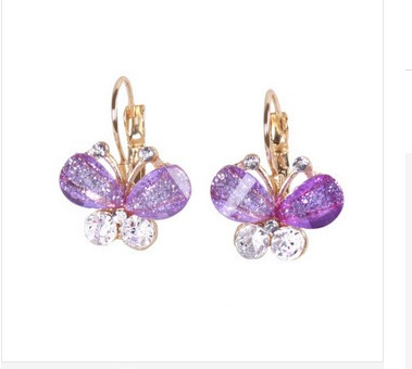 Brinco Brilhante Arco-nó-asas-borboletas