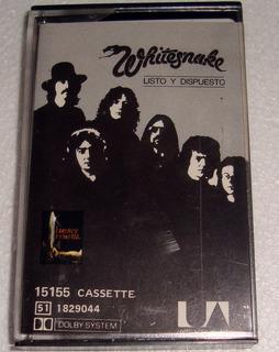 Whitesnake Listo Y Dispuesto Cassette Argentino / Kktus