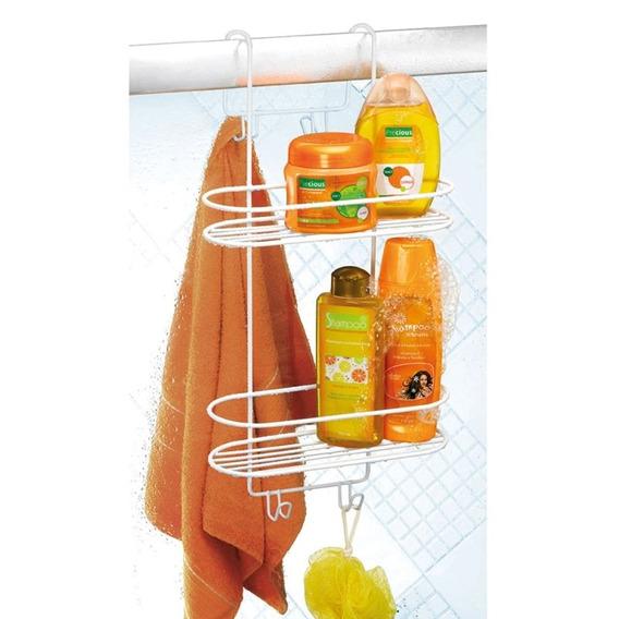 Suporte Duplo De Pendurar Box Porta Shampoo Emborrachado