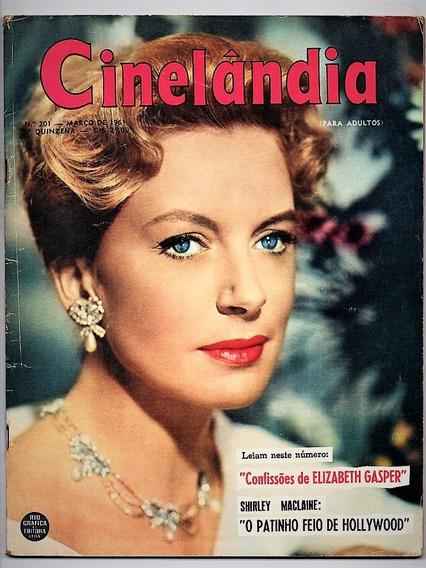 Revista Cinelandia Nº 201 Shirley Maclaine Neil Sedaka 1961