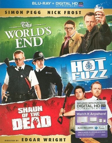 Blu-ray Shaun Of The Dead + Hot Fuzz + The World´s End