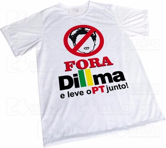 Camiseta Fora Pt Fora Dilma