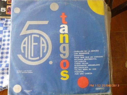 Vinilo Lp Tangos Alfa  (u579