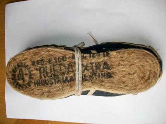Alpargatas Antigua Rueda Extra Yute Original N° 4 -22 Cm