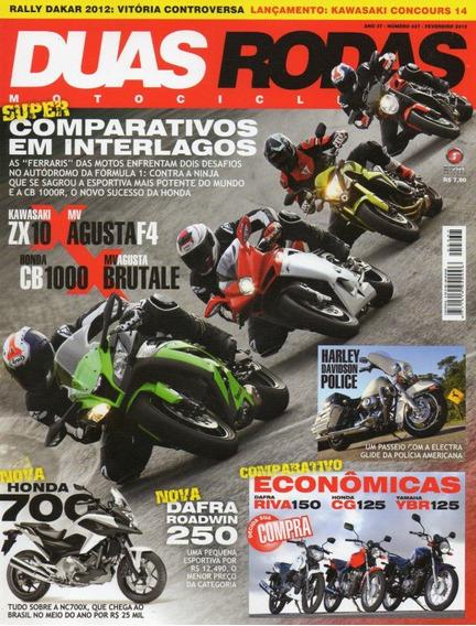 Duas Rodas N°437 Ninja Zx-10r Cb 1000 Cg 125 Ybr Riva Mv F4