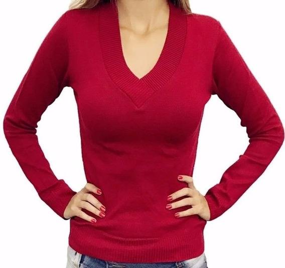 Blusa De Frio Feminina Casaco Cardigan Lã Trico Liso Ref 112