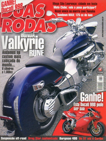Duas Rodas N°344 Mai/2004 Valkyrie Burgman 400 Sundown Max