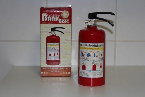 Cofre Extintor De Incêndio Porta Moedas Decoração