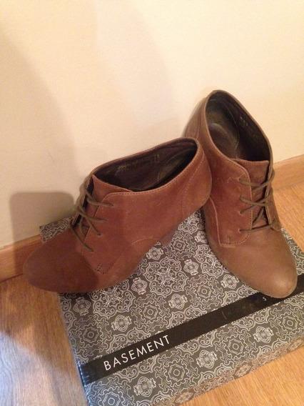 Zapatos Mujer Acordonados Con Taco