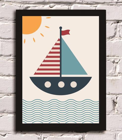 Quadro Decorativo Marinheiro Barco Infantil Decoração Bebê