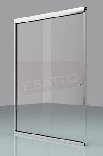 Imagen 1 de 4 de Esatto® Cancel Baño Recto Cristal Transp Templado 100 Cms