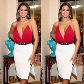 Body Bruna Marquezine Decote Feminino Alcinha Bojo Com Forro