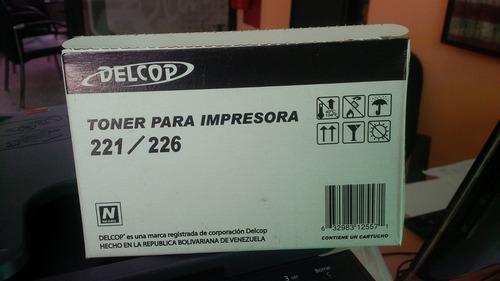 Recarga Toner Delcop 221/226/mfp521/526,kyocera Fs-1040/1020