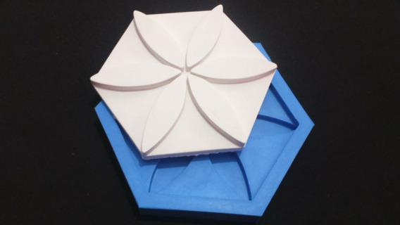 Moldes De Silicone 3d Gesso Flor Hexagonal