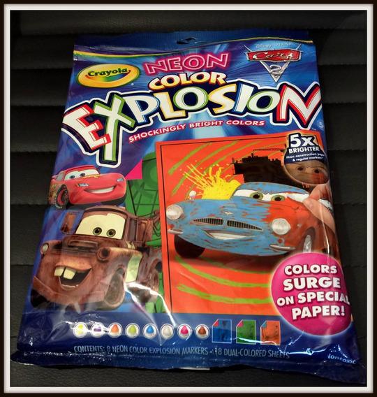 Kit Para Colorir Crayola Carros 2 Disney Importado