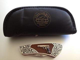 Colt 1911 Us Army 45 Franklin Mint Canivete Raridade Colção