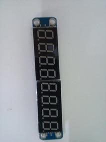 Display 8 Dígitos Max7219 Led 7 Segmentos Arduino Pic
