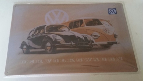 Placa Decorativa Vintage Retro Kombi Wolks Fusca - Pl187